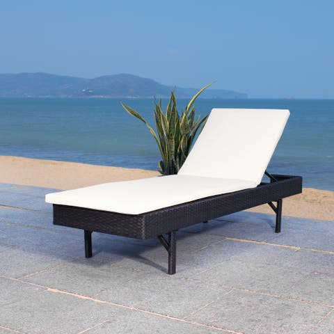 SAFAVIEH Outdoor Cam Sun Lounger with Cushion
