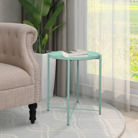 Maypex Metal Tray Top End Table