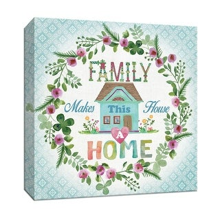 "PTM Images 9-147215  PTM Canvas Collection 12"" x 12"" - ""Family Home"" Giclee Sayings & Quotes Art Print on Canvas"