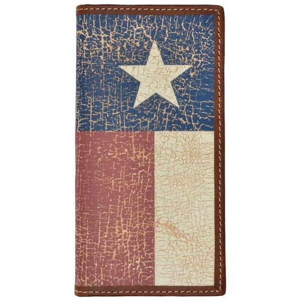3D Western Wallet Mens Leather Rodeo Texas Brown Red - One size