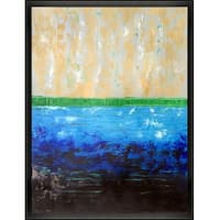 Pearl Ocean by Lisa Carney Framed Hand Painted Oil on Canvas