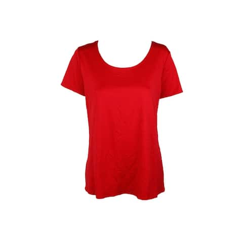 Ny Collection Red V-Neck T-Shirt XL
