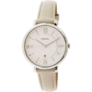 Fossil Women's Jacqueline ES3793 Silver Leather Japanese Quartz Fashion Watch