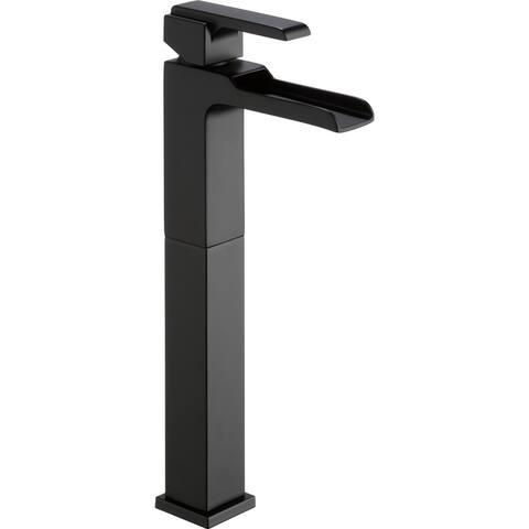 Delta 768LF Ara 1.2 GPM Single Hole Waterfall Bathroom Faucet with Riser