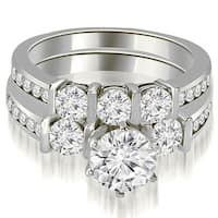 1.90 CT.TW Bar Set Round Cut Diamond Engagement Set,HI,SI1-2