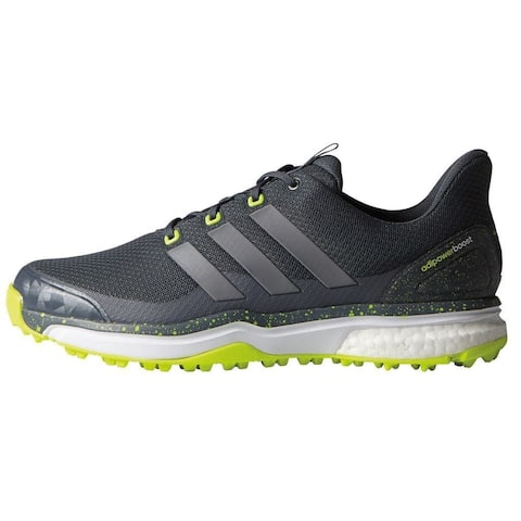 93a6bc7f4e56 Adidas Men s Adipower Sport Boost 2 Onyx Iron Met Solar Yellow Golf Shoes  F33218
