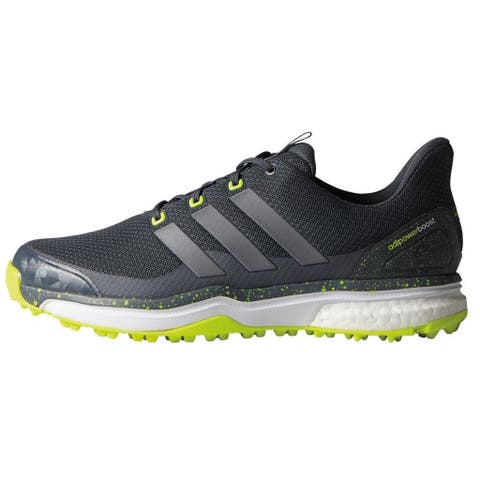 8a1e9e22ee861 Adidas Men s Adipower Sport Boost 2 Onyx Iron Met Solar Yellow Golf Shoes  F33218