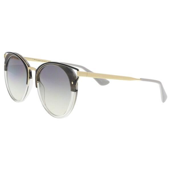 7c43a25edd Shop Prada PR 66TS MRU130 Striped Grey Cat eye Sunglasses - 54-20 ...