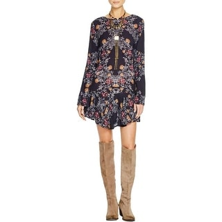 Free People Womens Tunic Dress Cotton Floral Print