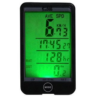Image Wireless Bike Computer Bicycle Odometer Speedometer Touch LCD Screen Backlight
