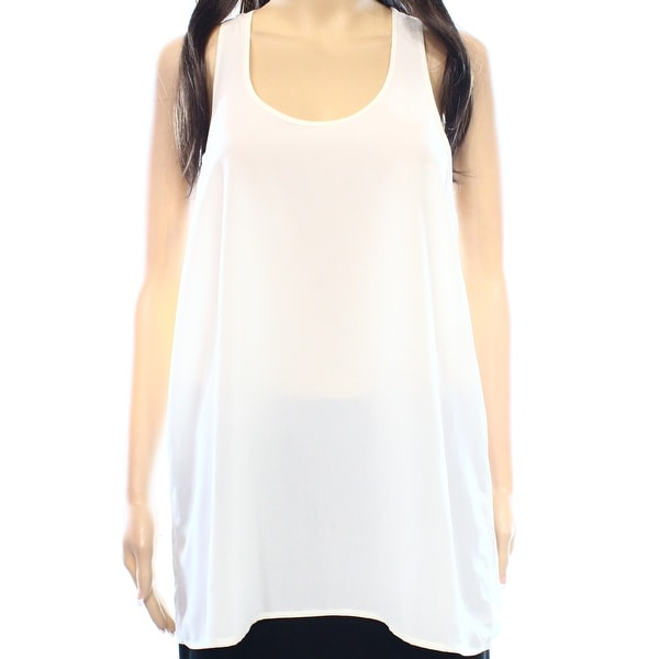 3a275969777b Shop Abound NEW White Ivory Chiffon Racerback Size Small S Junior Tank Cami  Top - Free Shipping On Orders Over $45 - Overstock - 17353671