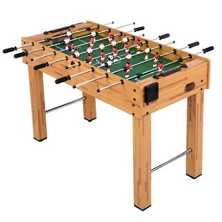 "Costway Foosball Soccer Table 48"" Competition Sized Arcade Game Room Hockey Family Sport"