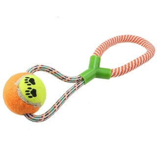 AGPtek Rope Dog Toy Chewing Toy with Tennis Ball Chewing Toy For Chewing and Training