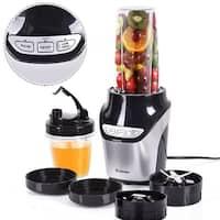 Costway Electric Blender Fruit Mixer Grinder Fruit Vegetable Processor 1000W 2 Speed - Black