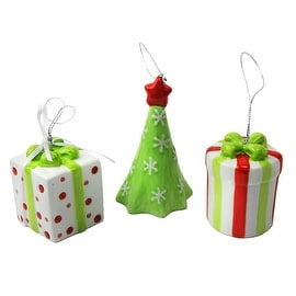 Cypress Home 3 Ceramic Christmas Ornaments