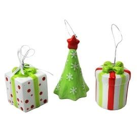 Cypress Home 3 Ceramic Christmas Ornaments