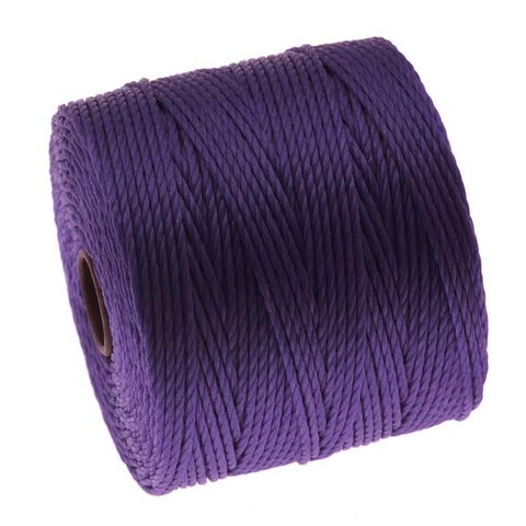 BeadSmith Super-Lon (S-Lon) Cord - Size 18 Twisted Nylon - Purple / 77 Yard Spool