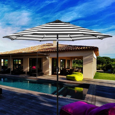 Maypex 9 Feet Solar Led Lighted Patio Umbrella