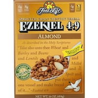 Food For Life Ezekiel 4:9, Almond Sprouted Whole Grain Cereal, 16 oz - case of 6