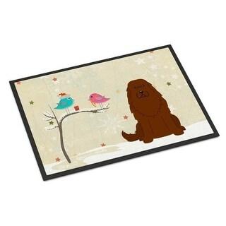 Carolines Treasures BB2522MAT Christmas Presents Between Friends Caucasian Shepherd Dog Indoor or Outdoor Mat 18 x 0.25 x 27 in.