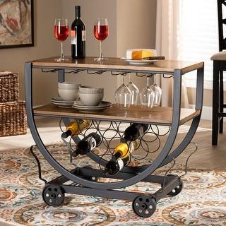 Link to Carbon Loft Cohn Industrial Dark Brown Cart Similar Items in Home Bars
