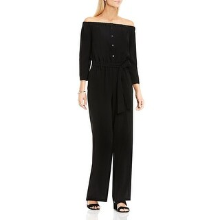 Vince Camuto Womens Jumpsuit Off-The-Shoulder Long Sleeve
