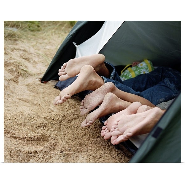 """""""Friends lying in tent"""" Poster Print"""