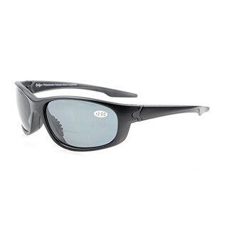 d1249ef8edef Shop Eyekepper TR90 Unbreakable Sports Grey Lens Matte Black Frame Bifocal  Sunglasses+1.0 - Free Shipping On Orders Over $45 - Overstock - 16023690