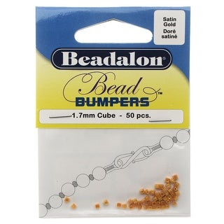Beadalon Bead Bumpers, Cube Silicone Spacers 1.7mm, 50 Pieces, Gold