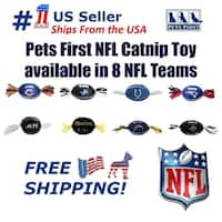 Pets First NFL Catnip Toy, Licensed, Plush, polyfilled Cat toy
