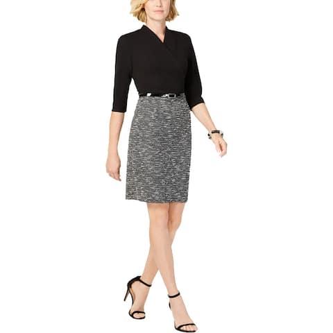 Connected Apparel Womens Wear to Work Dress Metallic Tweed