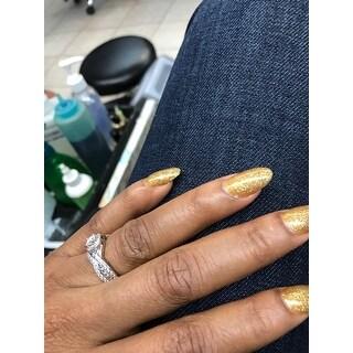 14k/ 18k White Gold 1 1/3ct TDW Diamond Braided Bridal Ring Set