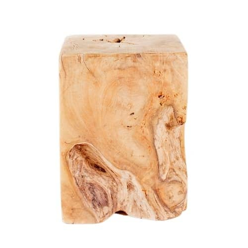 Moes Home Collection EI 1008 Natural 12 Inch Wide Teak Wood End Table    Free Shipping Today   Overstock.com   26992814