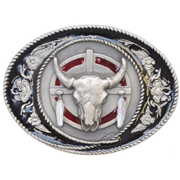 Buffalo Skull Belt Buckle - One size