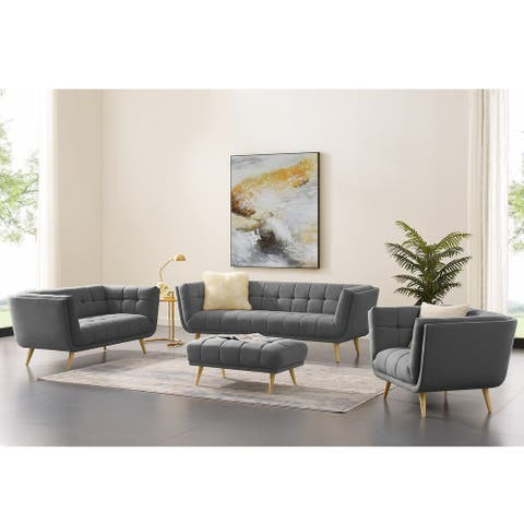 Carson Carrington Igelsered Modern Tufted Fabric Soft Living Room Set