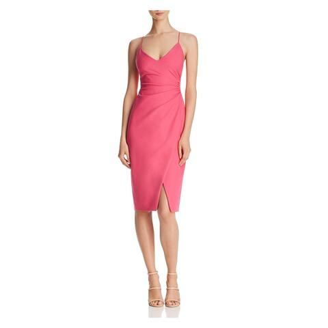 BLACK HALO Pink Spaghetti Strap Knee Length Dress 6