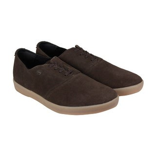 HUF Gillette Mens Brown Suede Lace Up Sneakers Shoes