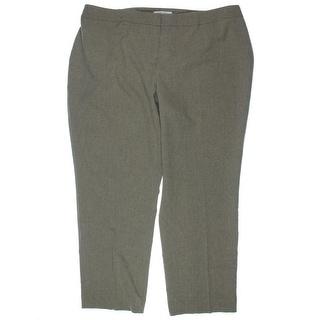 Kasper Womens Plus Kristy Crepe Flat Front Dress Pants - 24W