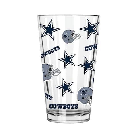 Dallas Cowboys All Over Print 16oz Pint Glass