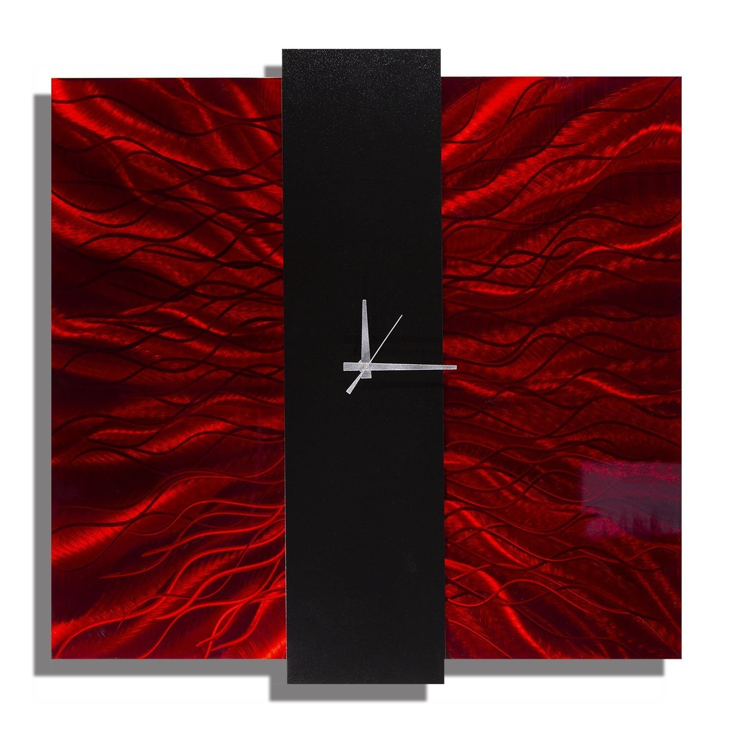 Statements2000 Red / Black Metal Wall Clock by Jon Allen - Lavish Mechanism - Thumbnail 0