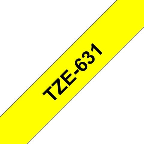 Brother international corporat tze-6312pk tze6312pk label tape - black on yellow 12 mm 2 / pack - Blue