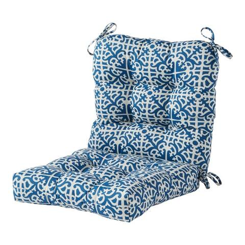 Outdoor 42-inch L x 21-inch W Polyester Seat/Back Chair Cushion