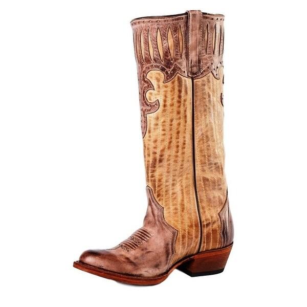 Macie Bean Western Boots Womens Bonnie Vintage Camel Sand Mocha