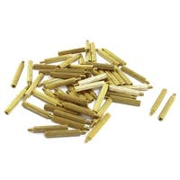 Unique Bargains Unique Bargains 50 Pcs Gold Tone Male Female PCB Pillars Standoff Spacers M2x17mmx20mm