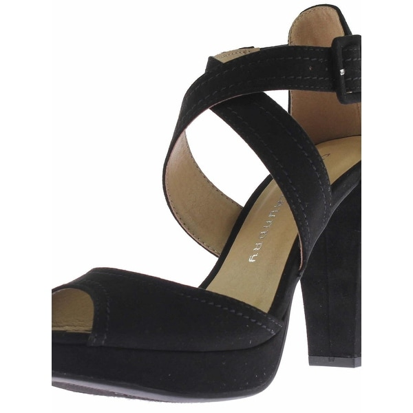 Chinese Laundry Womens All Access Platform Sandals Microsuede Peep Toe - 7 medium (b,m)