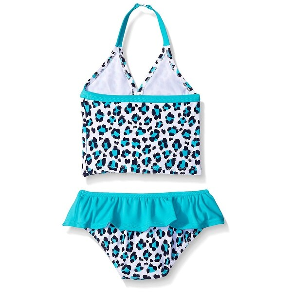 1c8144d64b Shop Oshkosh B gosh Baby Girls  Two Piece Tankini (24 Month- Turquoise  Cheetah) - 24 Months - Free Shipping On Orders Over  45 - Overstock -  20305811