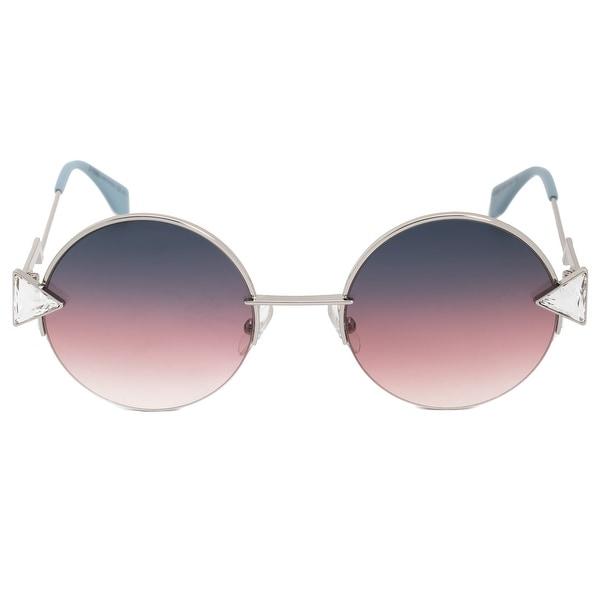 048ce88123 Shop Fendi Rainbow Round Sunglasses FF0243S TJV FF 51 - Free ...
