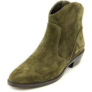 Via Spiga Franka Women Round Toe Suede Green Ankle Boot
