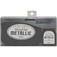 Stazon Metallic Solvent Ink Kit-Silver