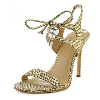 Pour La Victoire Elisa Women  Open Toe Leather Gold Sandals